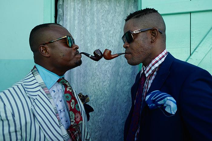 Deux sapeurs congolais